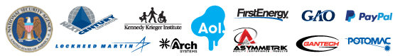 Employer Partners: AOL/Advertising.com, Arch Systems, Asymmetrik, GANTECH, First Energy, Government Accountability Office, Kennedy Krieger Institute, Lockheed Martin, Next Century Corporation, NSA, PayPal, Potomac Photonics